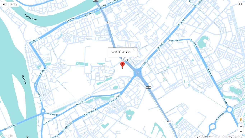 Vị trí dự án Hà nội homeland